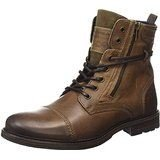 Bunker Domin Mido Tan Mens Leather Army Boots Shoes-12