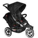 Phil and Teds Explorer Stroller with Doubles Kit in Black