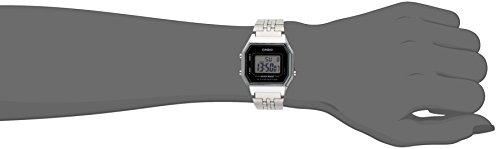 Casio Ladies Mid-Size Silver Tone Digital Retro Watch LA-680WA-1DF 1