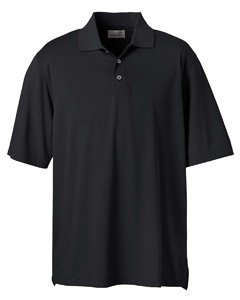 Men's High Twist Cotton Tech Polo, Black, L
