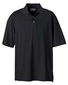 Men's High Twist Cotton Tech Polo, Black, L