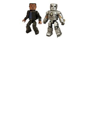 Picture of Art Asylum Iron Man Mark I And Jim Rhodes Action Figure 2-Pack (B001IPEKBG) (Iron Man Action Figures)