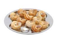 Assiette Plat à Escargots en Inox