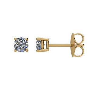 Genuine IceCarats Designer Jewelry Gift 14K Yellow Gold Diamond Stud Earrings. Diamond Stud Earrings In 14K Yellow Gold