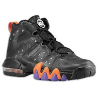 finest selection bfc67 60c19 Nike Air Max Barkley GS Boys Basketball Shoes Black Black Safety Orange  Pure Purple 488245 001 5 5