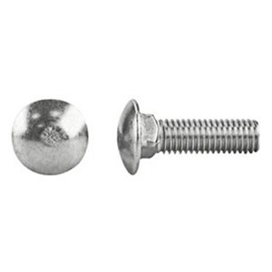 1//4-20x2-1//2 A307 Grade A Full Thread Carriage Bolts Galvanized 100 PCS