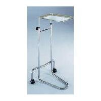 Blickman Single-Post, Instrument Stand, Chrome, Stainless-Steel Tray
