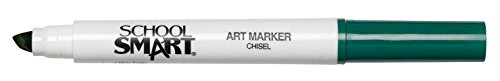 School Smart Chisel Tip Watercolor Marker - Set of 12 - Green - 1