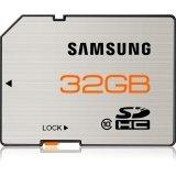 Samsung 32 GB SDHC Flash Memory Card, Brushed Metal -  MB-SSBGA/US