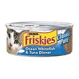 Friskies Classic Pate Ocean Whitefish & Tuna Dinner 24 - 5.5oz Cans (Friskies Pate Chicken And Tuna compare prices)