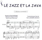 Partition : Le jazz et la java - Piano et paroles