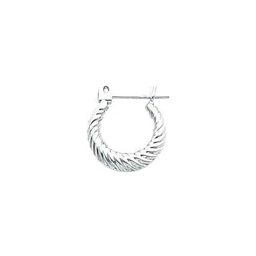 White gold Hoop Earrings Polished Jewelry New N Jewelry