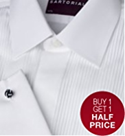 2in Shorter Sartorial Pure Cotton Pleated Dinner Shirt