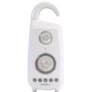 C2G 900Mhz Wireless Shower Speaker With Dual Power Transmitter - Speaker - Wireless - White