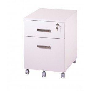 Simmob-Subwoofer di scrivania 2cassetti Ineo Bianco con portapenne