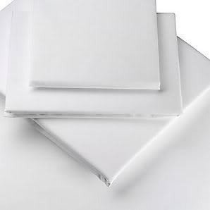 100% Egyptian Cotton 200 Thread Count White Double Fitted Bed Sheet