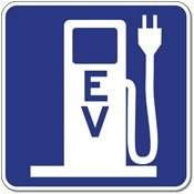 Federal Electric Vehicle (Ev) Charging Station Sign - 18X18