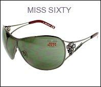 21EgaKF0CaL Miss Sixty Sunglasses MX366S 08A Metal Rhinestones Gun