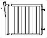 Aluminum Railing Gates - 36
