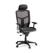 Lorell Hi-Back Chair, 28-1/2 by 28-1/2 by 51-Inch, Black