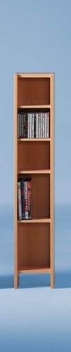 CD/DVD Storage Rack - Beech - WxHxD: 19.5 x 105 x 16.5