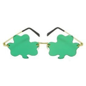 A Touch of the St. Patrick's Day Irish in these Mini Shamrock Costume Glasses