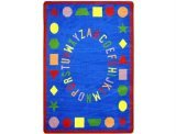 "Joy Carpets Kid Essentials Early Childhood First Lessons Rug, Blue, 3'10"" x 5'4"" - 1"