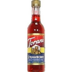 Torani Strawberry Coffee Syrup, 12.7 Ounce -- 6 per case.