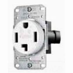 Hubbell Wiring 606217 Range & Dryer Receptacle 30A-125-250 3P 4Wire White