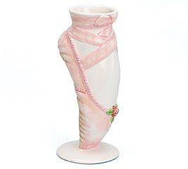Decorative ballerina dance shoe vase for for Ballet shoes decoration