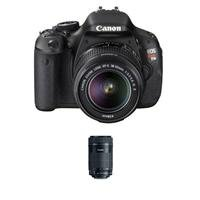 Canon EOS Rebel T3i SLR Camera with Canon EF-S 18-55mm IS II Lens - Bundle - with Canon EF-S 55-250mm f/4-5.6 IS STM Lens from Canon