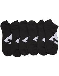 DC 6-Pack Men's Sport No Show Socks Size 10-13 (Black)