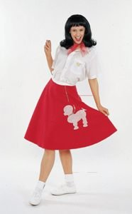 Poodle Skirt (Pink) Adult Costume