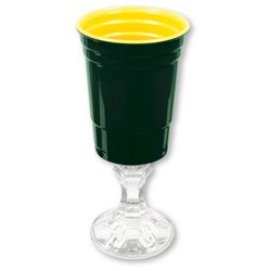 Carson Home Accents Rednek Team Spirits Party Cup, 16-Ounce, Green and Yellow - 1