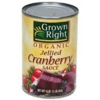 Grown Right 66711 Grown Right Jellied Cranberry Sauce- 24x14 OZ