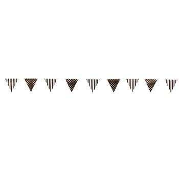 Chocolate Stripe & Polka Dot Pennant Banner - Party Decorations & Flags & Bunting