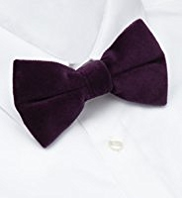 Autograph Pure Cotton Velvet Bow Tie