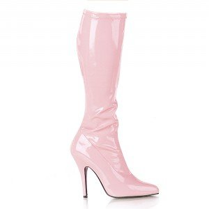 SEDUCE-2000, 5 Plain Stretch Knee Boot with Side Zip in 11 Colors up to Size 16 by Pleaser USA