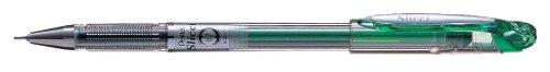 Pentel BGR7 Slicci - Cartucho de recambio para bolígrafo roller de gel, punta de aguja, 0,35 mm, color verde