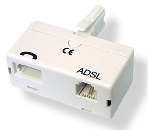 Kabel-Tex 2 x Micro Filter für BT Broadband ADSL Router / Modem