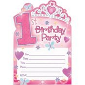 First Birthday Princess Invitations by Amscan