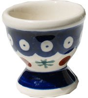 Polish Pottery Egg Cup From Zaklady Ceramiczne Boleslawiec #203-41 Nature Pattern