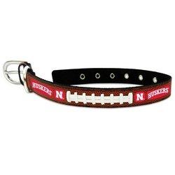 цены Nebraska Cornhuskers Classic Leather Large Football Collar
