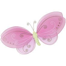 Little Boutique Mesh Butterfly Wall Hanging - 1