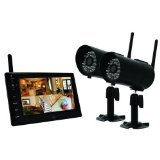 "First Alert DWS472 Security Digital Wireless Color 2 Camera Recording System w/7"" LCD Display/DVR/LED Night Vision"