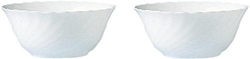 """Esmeyer Trianon - Set 2 insalatiere, 18 cm, vetro temperato Acropal """"Trianon"""", bianco"""