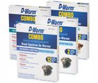 D-Worm Combo Broad Spectrum De-Wormer for Puppies & Small Dogs - 2 Tablets