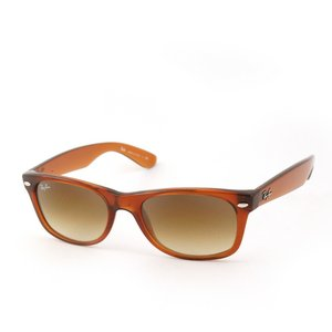 Ray Ban Unisex Rb2132 New Wayfarer Light Brown Frame/Brown Gradient Lens Plastic Sunglasses, 52mm