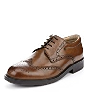 Airflex™ Extra Leather Wide Fit Derby Brogue Shoes