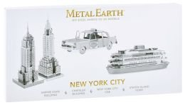 Metal Earth 3D Laser Cut Models - New York City - 4 Pieces (New York Model compare prices)